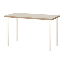 LINNMON/GODVIN Mesa de escritorio 120x60 cm beige/blanco