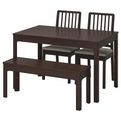 EKEDALEN/EKEDALEN Mesa+2 sillas+banco
