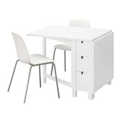 NORDEN/LEIFARNE Mesa y dos sillas