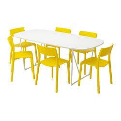 OPPEBY/BACKARYD/JANINGE Mesa y 6 sillas