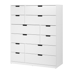 NORDLI Chest of 12 drawers