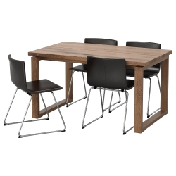 MÖRBYLÅNGA/BERNHARD Mesa con 4 sillas