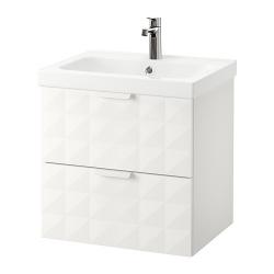 GODMORGON/ODENSVIK Armario lavabo 2 cajones