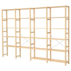 IVAR Estrcutura almacenaje 344x30x226 cm con estantes
