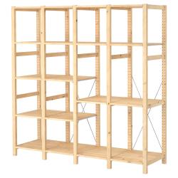 IVAR Estructura almacenaje 179x50x179 cm con estantes