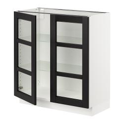 SEKTION Armario bajo+2 puertas vidrio