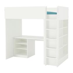 STUVA Comb cama alta+2estantes/3estantes