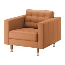 LANDSKRONA Sillón Grann/Bomstad marrón dorado con patas de metal