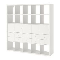 KALLAX Shelving unit with 10 inserts