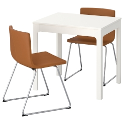 EKEDALEN/BERNHARD Mesa y dos sillas