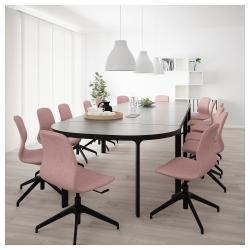 BEKANT Mesa de reuniones 280x140 cm negro