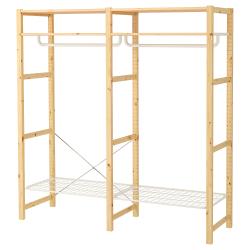 IVAR Armario abierto 174x50x179 cm dos secciones con estante
