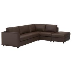 Corner sofa-bed, 4-seat