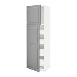 METOD/MAXIMERA Armario alto 2 puertas y 4 cajones