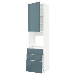 METOD/MAXIMERA Armario alto horno puerta 3 cajones