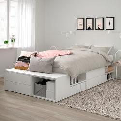 PLATSA Estructura cama + almacenaje 4 cajones
