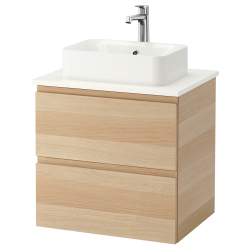GODMORGON/TOLKEN/HÖRVIK Armario/lavabo +encimera