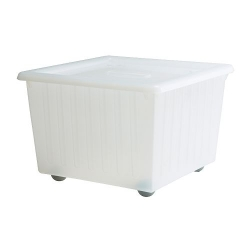 VESSLA Box with castors and lid