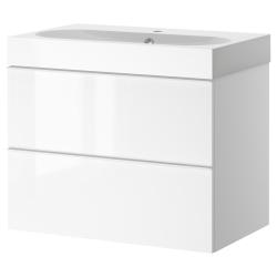 GODMORGON/BRAVIKEN Armario lavabo 2 cajones 60cm