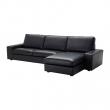 KIVIK Sofá 4 plazas con diván, GRANN/BOMSTAD negro