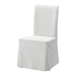 1 x HENRIKSDAL Funda larga para silla blekinge blanco