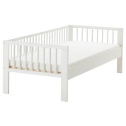 GULLIVER Estructura cama y barandilla blanco