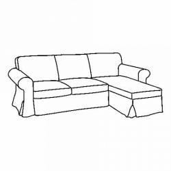 1 x EKTORP 3-seat sofa frame