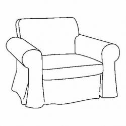 1 x EKTORP Estructura de sillón