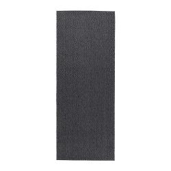 MORUM Alfombra, lisa 80x200 gris osc