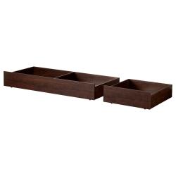BRUSALI Caja almacenaje para cama fu, juego 2