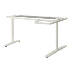1 x BEKANT Estructura para tablero escritorio de esquina 160x110 cm blanco