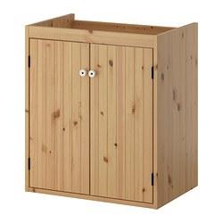 1 x SILVERÅN Armario lavabo con 2 puertas 60x38x67cm