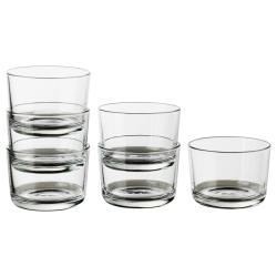 IKEA 365+ Vaso vidrio templado 6oz, 6 unds.