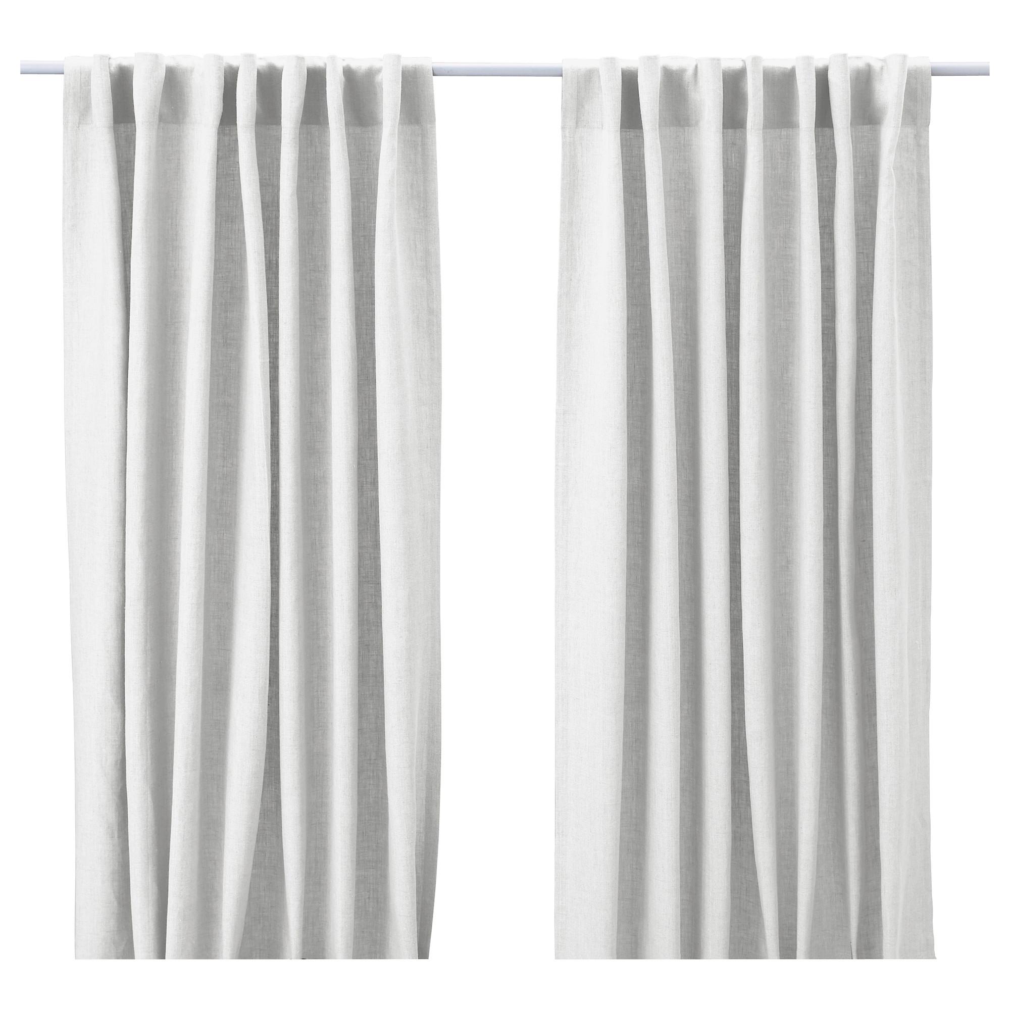 AINA cortinas, 1 par blanco