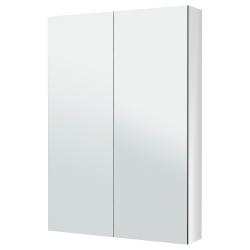 GODMORGON Armario con espejo, 2 puertas
