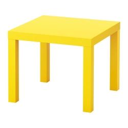 LACK Mesa auxiliar 55cm, amarillo