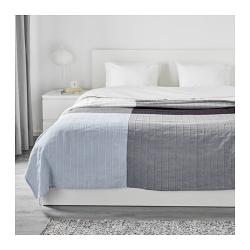 ÄNGSTÖREL Colcha cama doble azul/cuadros