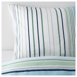 BLÅRIPS Duvet cover and pillowcase(s), Full/Queen