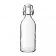 KORKEN Botella vidrio con tapón, 0.5lt
