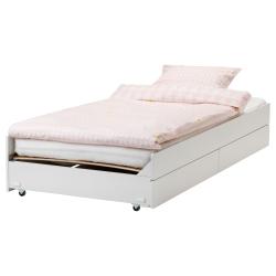 1 x SLÄKT Armazón cama inferior con almacenaje