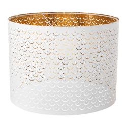 NYMÖ Pantalla para lámpara blanco/bronce 44 cm