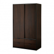 TRYSIL Wardrobe w sliding doors/4 drawers