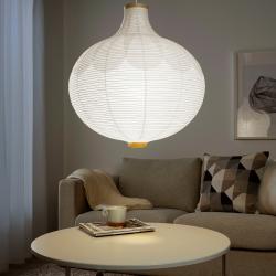 RISBYN Pantalla para lámpara de techo blanco 57 cm