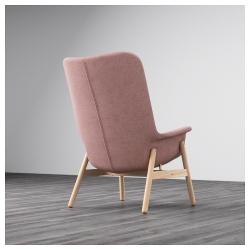 VEDBO Sillón con respaldo altoGunnared marrón rosa claro