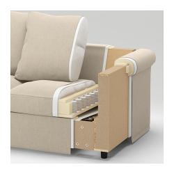 1 x FINNALA Frame, 2-seat sofa-bed section