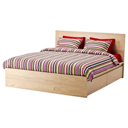 MALM Armazón cama alta+4cjn