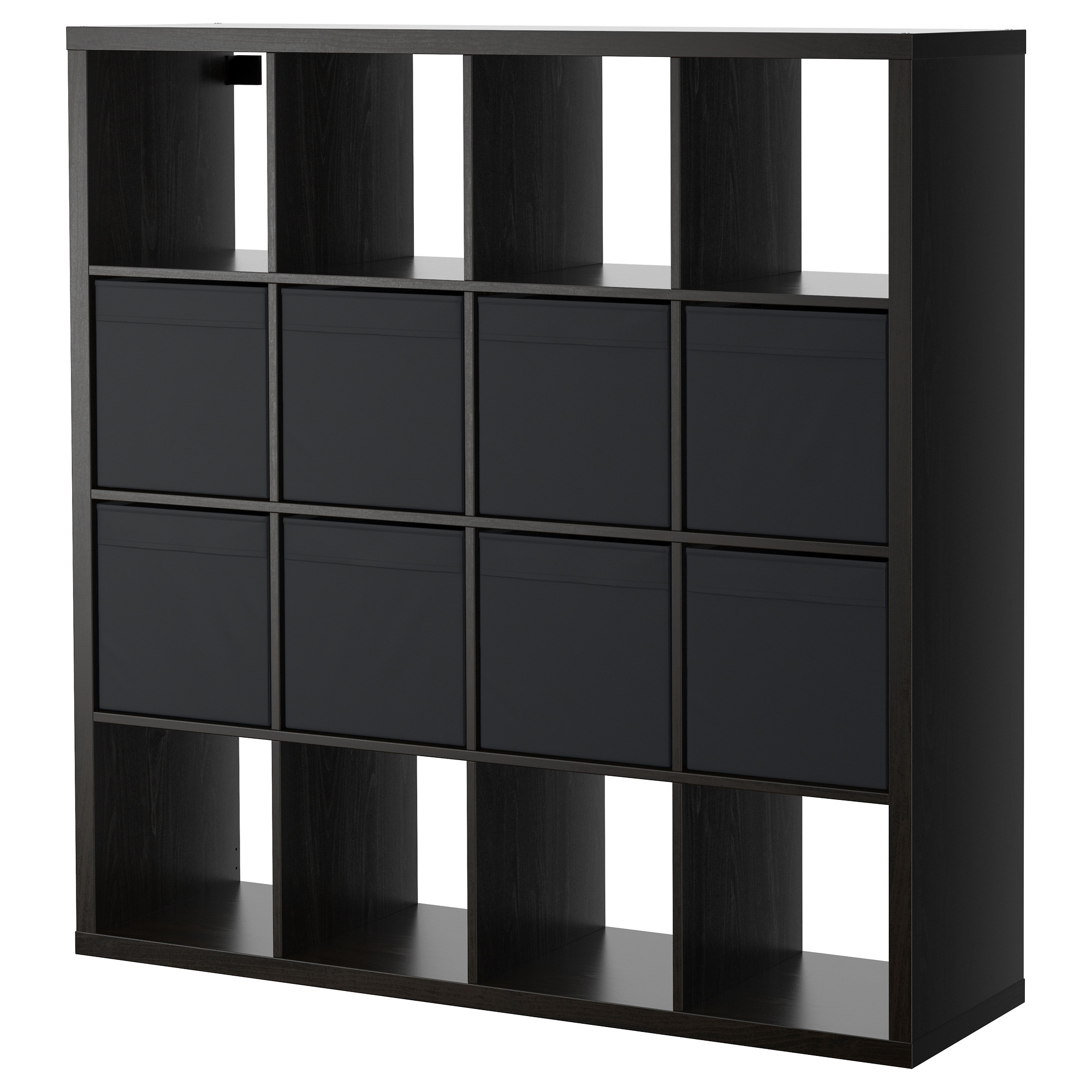kallax shelving unit with 8 inserts. Black Bedroom Furniture Sets. Home Design Ideas