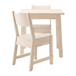 NORRÅKER Mesa y dos sillas