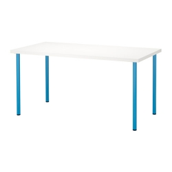 LINNMON/ADILS Mesa de escritorio 150x75 cm blanco/azul