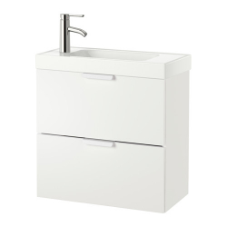 GODMORGON/HAGAVIKEN Armario para lavamanos+2 cajones